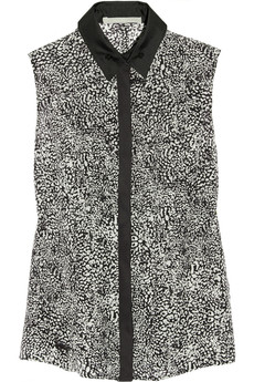 Jason Wu Printed silk-chiffon top