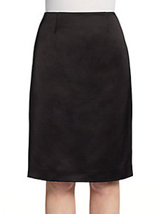 Calvin Klein Collection Satin Pencil Skirt