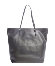 Furla onyx black leather 'D-Light' large tote