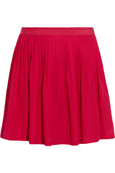 Joie Filomina pleated silk mini skirt