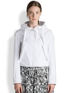 Jil Sander Cropped Techno Hooded Jacket