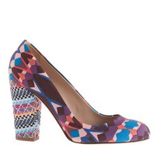 Blakely mixed-print pumps