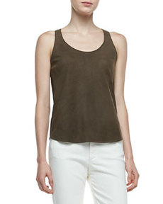 Isaac Perforated Lambskin Tank Top   Isaac Perforated Lambskin Tank Top