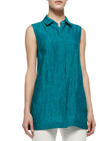 Lafayette 148 New York Senara Sleeveless Linen Blouse