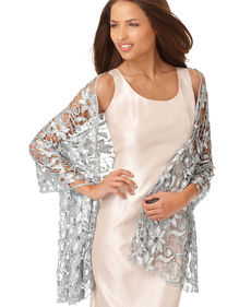 Jones New York Sequin Lace Wrap