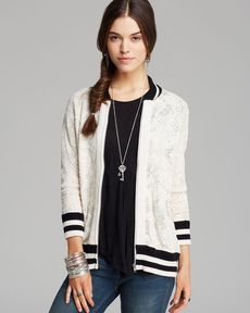Free People Jacket - Team Flower Baseball Track