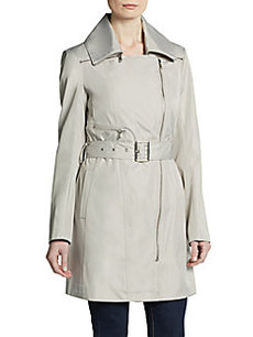 MARC NEW YORK by ANDREW MARC Rue Asymmetrical Zip-Front Trench Coat