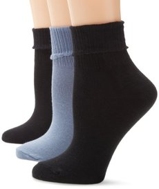 HUE Women's Huetopia Turn Cuff Sock