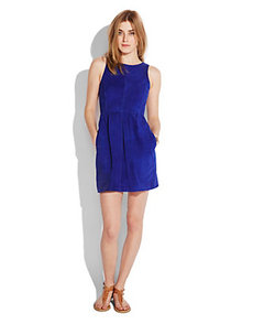 COBALT SUEDE DRESS