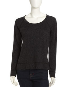 James Perse Raglan Sleeve Pullover, Black