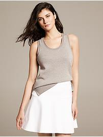 Micro-Stripe Sweater Tank