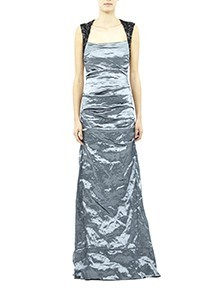 Felicity Beaded Techno Metal Gown