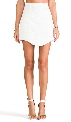 Tibi Katrin Paneled Skirt in White