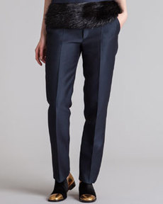 Marni Straight-Leg Organdy Pants