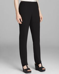 Eileen Fisher Slim Side Zip Pants