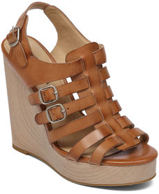 Lucky Brand Rorie Caged Fisherman Platform Wedge Sandals
