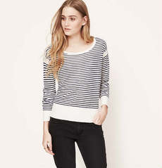 Petite Framed Stripe Sweater