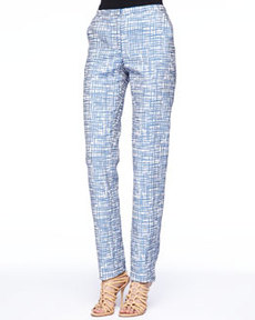 Missoni Zigzag Jacquard Pants, Blue