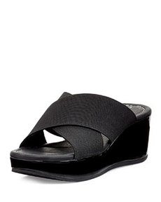 Donald J Pliner Seva Cross Sandal Wedge, Black