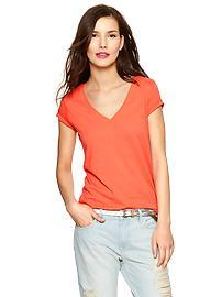 Essential short-sleeve V-neck tee