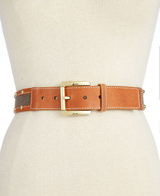 MICHAEL Michael Kors Canvas Stud Belt
