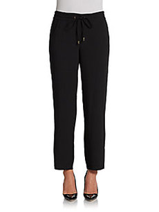 Ellen Tracy Stretch Crepe Ankle Pants