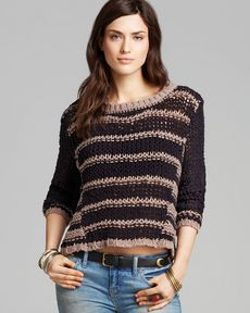 Free People Pullover - Provence Stripe