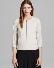 Eileen Fisher Collarless A-Line Jacket