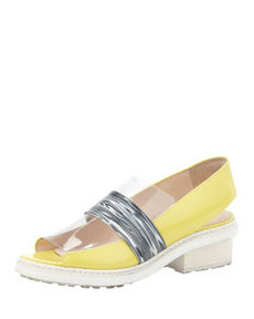 Darwin Runway Peep-Toe Loafer, Lemon   Darwin Runway Peep-Toe Loafer, Lemon