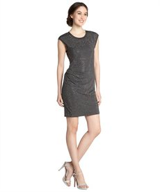 Rebecca Taylor grey stretch nailhead sheath dress