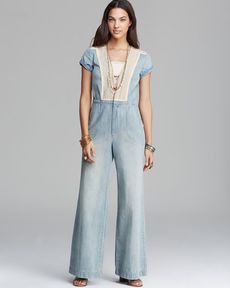 Free People Jumpsuit - Vintage Chambray Denim
