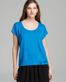 Eileen Fisher Scoop Neck Short Sleeve Box Top