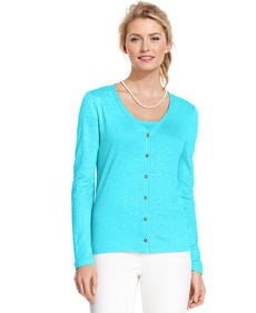 Charter Club Button-Down V-Neck Cardigan