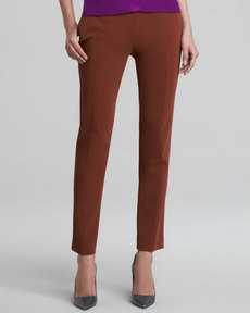 Narciso Rodriguez Cropped Skinny Pants, Rust