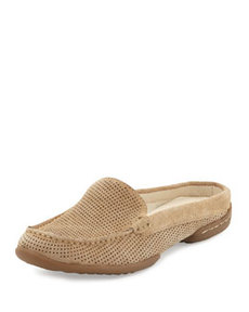 Donald J Pliner Veni Perforated Suede Slide, Sand