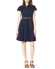 Stretch-Cotton Shirtdress   Stretch-Cotton Shirtdress