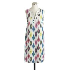 Watercolor ikat shift dress