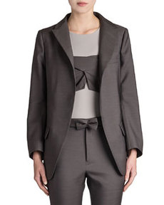 Reagan Long Wool-Silk Blazer   Reagan Long Wool-Silk Blazer