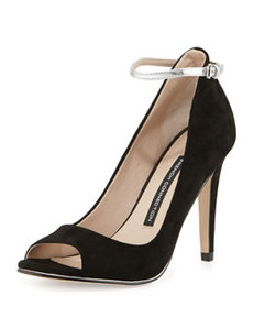 French Connection Neola Suede Leather Pump, Black