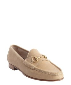 Gucci sand suede '1953 Collection' horsebit loafers