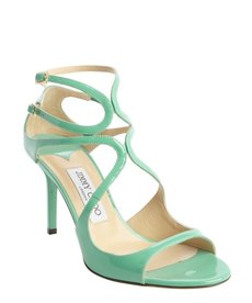 Jimmy Choo peppermint leather strappy open toe 'Ivette' pumps