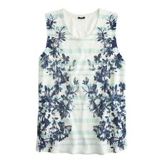 Linen swing tank in photo floral
