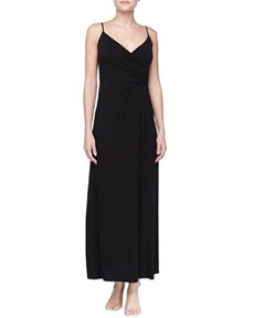 Liquid Jersey Long Gown, Black   Liquid Jersey Long Gown, Black