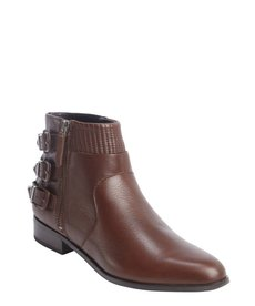 Dolce Vita mahogany leather 'Angie' ankle boots