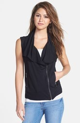 kensie Drape Front French Terry Vest