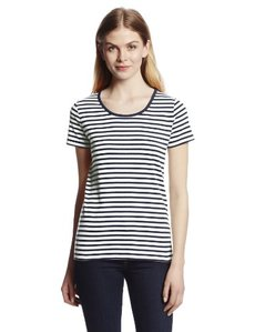 Jones New York Women's Striped Short-Sleeve Scoop-Neck Top