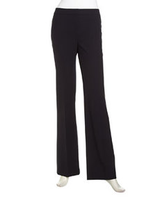 Lafayette 148 New York Classic Contemporary Stretch-Knit Pants, Navy
