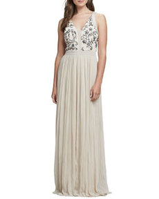 Sequin-Embellished Bodice Gown   Sequin-Embellished Bodice Gown