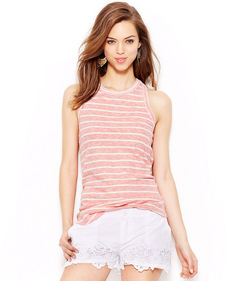 Lucky Brand Striped Racerback Tank