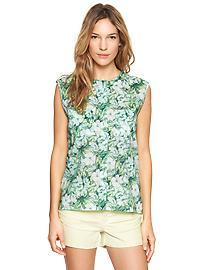 Tropical floral pocket shirt